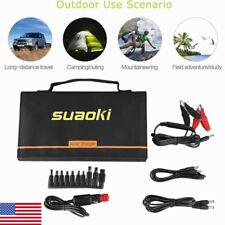 Suaoki 60W Solar Panel Battery Car Charger 18V DC & 5V USB Portable Power Bank
