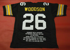 ROD WOODSON CUSTOM PITTSBURGH STEELERS STAT JERSEY