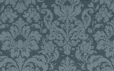 Wallpaper Large-Scale Damask Blue Fabric-backed Solid Vinyl Rich-Wall 5540 D/Rs