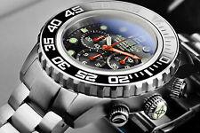 ARAGON DiveMaster IV 45mm Black Dial SII NE88 AUTOMATIC Chronograph Watch A392BK