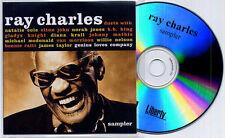 RAY CHARLES DUETS SAMPLER UK 6-TRK PROMO CD ELTON JOHN NORAH JONES VAN MORRISON