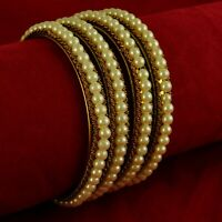 Indian Women Traditional 18K Goldplated Bangle Set Wedding Bracelet Jewellery