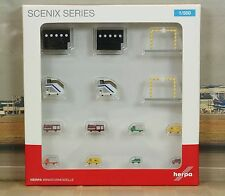 "Herpa Airport Accessories VI ""New color-14 Pieces"" 1/500"