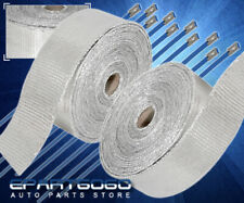 10M Exhaust Header Manifold Engine High Temp Heat Fiberglass Heat Wrap Silver