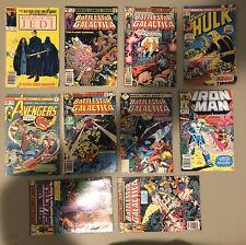 Vintage Marvel Comic Lot Of 10 - Battle Star 1&2-Hulk 186-Iron Man 242-Jedi 4