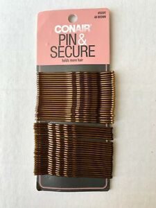 Conair Pin & Secure Bobby Pins holds more hair 48 pieces Brown