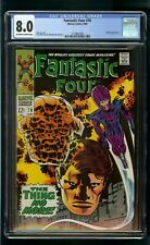FANTASTIC FOUR #78 (1968) CGC 8.0 WIZARD APPEARANCE