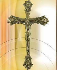 Wandkruzifix Messing H.32x20x2cm  man sollte mal wieder sein Kreuz zeigen