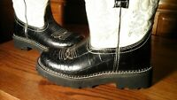 Ariat Fatbaby Black CROC Leather Western Cowboy Roper Boots Womens Size 7B 7