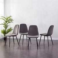 2er Set Esszimmerstühle Samt Stuhl Küchen Wohnzimmer Stuhl Polsterstuhl Grau