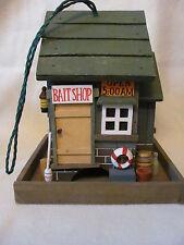 """BAIT SHOP BIRD FEEDER - WOODEN - 9"""" TALL - XLNT MINTY"""