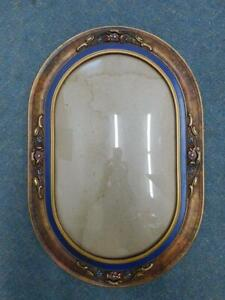 F5 1930s Art Deco Large Gilt & Painted Rounded Rectangular Form Wall Frame