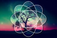 A1 | Geometric Space Tree Poster Art Print 60 x 90cm 180gsm Nature Gift #8837