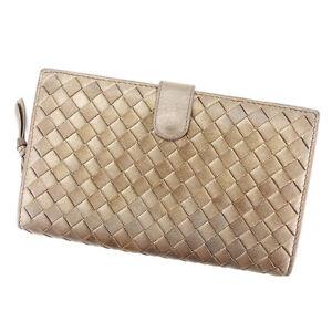 Bottega Veneta Wallet Purse Intrecciato Bronze Woman unisex Authentic Used T3201