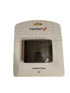 BRAND NEW TomTom ONE Leather Carry Case (Black) ONE 30 series &125