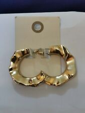 Urban Outfitters, earings, golden waves circle, 4 cm diameter,  RRP 19.99