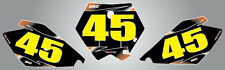Custom Number Plate graphics for KTM 85 2006 - 2012 Fader Style