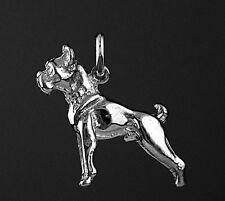 Pendentif  Chien BOXER en 3D - Pendant BOXER DOG  -  Argent Massif 925/1000