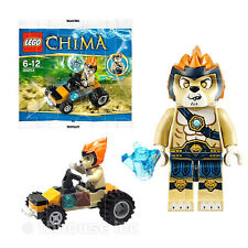 LEONIDAS JUNGLE DRAGSTER figure LEGENDS OF CHIMA poly set LEGO minifigure 30253
