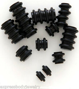 2 PC Acrylic Black  2g Look Magnetic No Piercing Fake Cheater Ear Plug