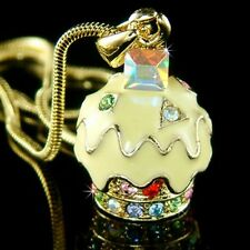 Baádo en Oro Amarillo Limón Madalena con Cristal Swarovski Charm Colgante Collar