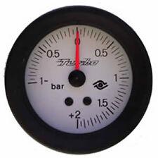 Manometro PRESSIONE TURBO Analogico Diffusione -1+2 bar BIANCO Road Italia 60 mm