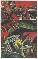 1962 Mars Attacks 4 Card 5x7 Promo Set Topps Norm Saunders Wally Wood Heritage