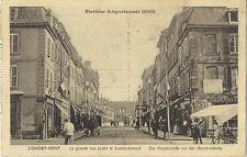 1. Weltkrieg - Longwy-Haut, La grande rue avant le bombadement, Ak von 1916