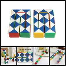 Snake Speed Cube Puzzle Toys Twist Magic Ruler Cube Pack Hand Fidget Brain Toy