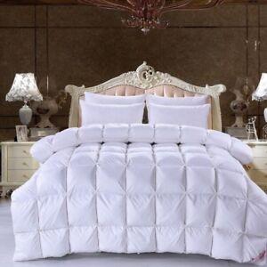 LUXURIOUS 100% White Duck Down Duvet Pink White Duck Down Winter Quilt Comforter