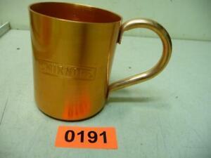 0191. Alter SMIRNOFF Aluminium Becher Alu Reklamebecher