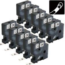 10pk 18055 Compatible Dymo Rhino 5200 6000 5000 Heat Shrink Tube Wire Label Tape