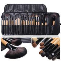 Pro 24 Pcs Makeup Brushes Cosmetic Tool Eyeshadow Powder Brush Set w/ Case #SFD