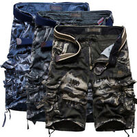 2017 Mens Cargo Shorts Trousers Pants Casual Pockets Camouflage Short Outdoor