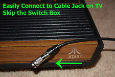 Atari 2600 VCS JR 2600A Cable TV Adapter RF Video Connector Skip The Switch Box