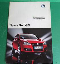 VOLKSWAGEN GTI AUTO CAR NEW NUOVA GOLF PUBBLICITA DEPLIANT BROCHURE CATALOG