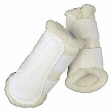 HKM Dressage/brushing Fleece Lined BOOTS - White Large
