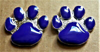 2 X ANIMALS AT WAR PURPLE DOGS PAW ENAMEL LAPEL PIN BADGE BROOCH POPPIES 2021
