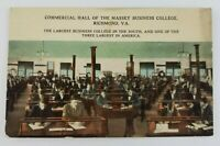 Postcard Commercial Hall of the Massey Business College Richmond Virginia