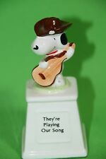 PEANUTS SNOOPY UNITED FEATURE  COWBOY SNOOPY FIGURINE THEY ARE PLAYING OUR SONG