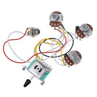 Guitar Wiring Harness Kit 5 Way Toggle Switch 250K 2T1V Pots for Strat Parts