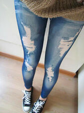 Fashion Women Leggings Slim Denim Look Jeans Jeggings Stretchy Pants