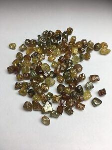 123.67 Karat Gemischte Kostüm Natürlich Uncut Schneidbar Grobem Diamant Menge