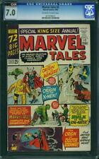 Marvel Tales # 2 CGC 7.0 OW/W Pages CVA Reprints Avengers #1 X-Men #1 1965