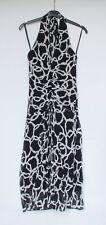 Coast ladies halter neck black & white lightweight dress UK 10