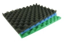 "17"" X 11"" FISH POND FILTER FOAM SET OF 3 FINE MEDIUM COARSE SPONGE SET GARDEN"