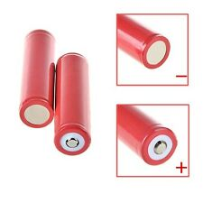 2 PCS Generic 18650 3000mAh 3.7V 3.7volt LI-ION Rechargeable Battery Red