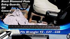 Jeep Wrangler YJ-CJ7-CJ8 BLACK Diamond Plate large sill-entry guards 1976-95