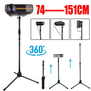 """Projector Stand Heavy Duty Tripod Height Adjustable 29 To 59"""" For Home Office UK"""