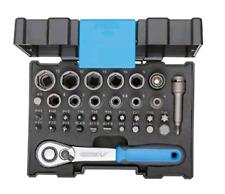 """GEDORE Bit-Steckschlüsselbox mit Knarre 6,3 mm (1/4"""") 35-teilig 666-U-20"""